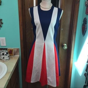 Vintage MOD Red, White and Blue Dress